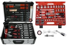 Famex 729-19 Werkzeugkoffer Komplettset Top Qualität mit 66-teiligem Steckschlüsselsatz - 1