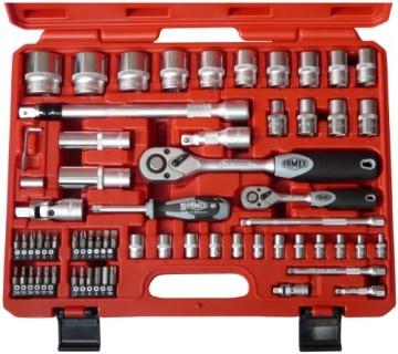Famex 729-19 Werkzeugkoffer Komplettset Top Qualität mit 66-teiligem Steckschlüsselsatz - 2