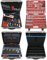 Famex 619-09 Werkzeug Komplettset High-End Qualität in ABS Schalenkoffer 32 L mit 173-teiligem Steckschlüsselsatz - 1